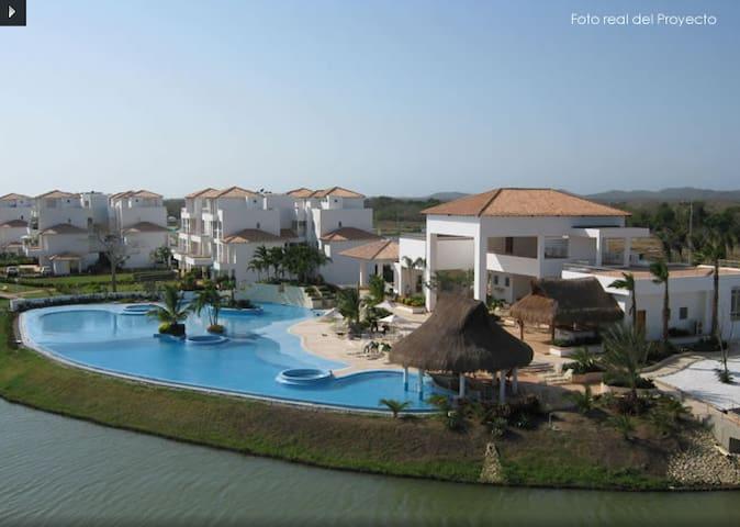 Acogedor apartaestudio en Cartagena Laguna Club. - Cartagena