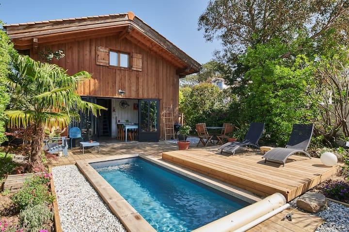 Maison  pour 4 pers avec piscine