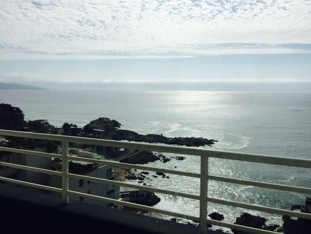 Depto vista+playa+buena ubicación - Viña del Mar - Apartment