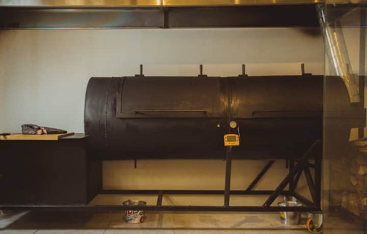 Fine Mess/ main offset barbecue smoker