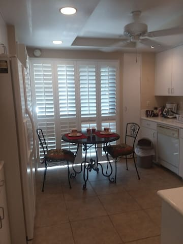 Enjoy a cup of coffee in our kitchen!