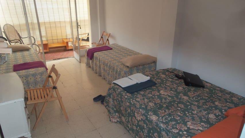 CENTRO MALAGA - TRIPLE  ROOM ,PRIVITE TERRACE.
