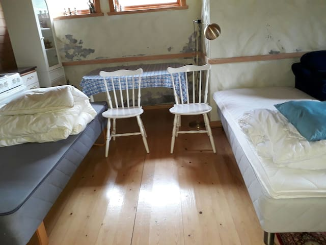 room downstairs .Possible with 4 beds.