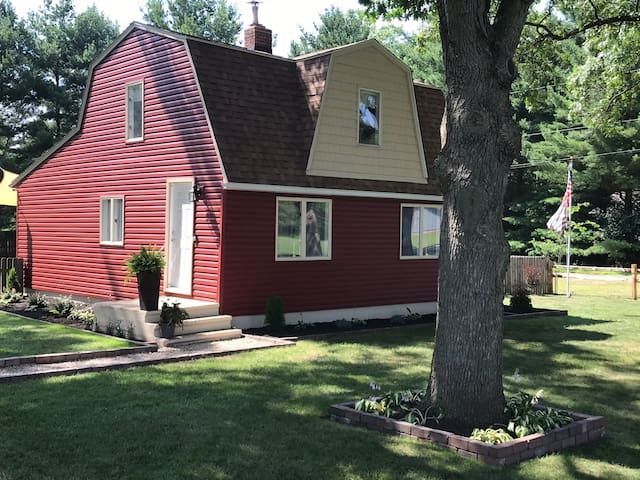 Red Gambrel Style Home