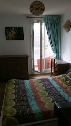 Belle chambre donnant sur balcon - Villejuif - Appartement