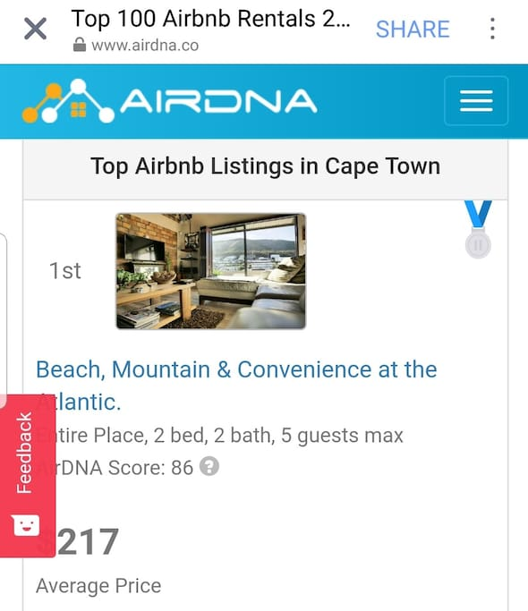 Ranked number one listing in Cape Town