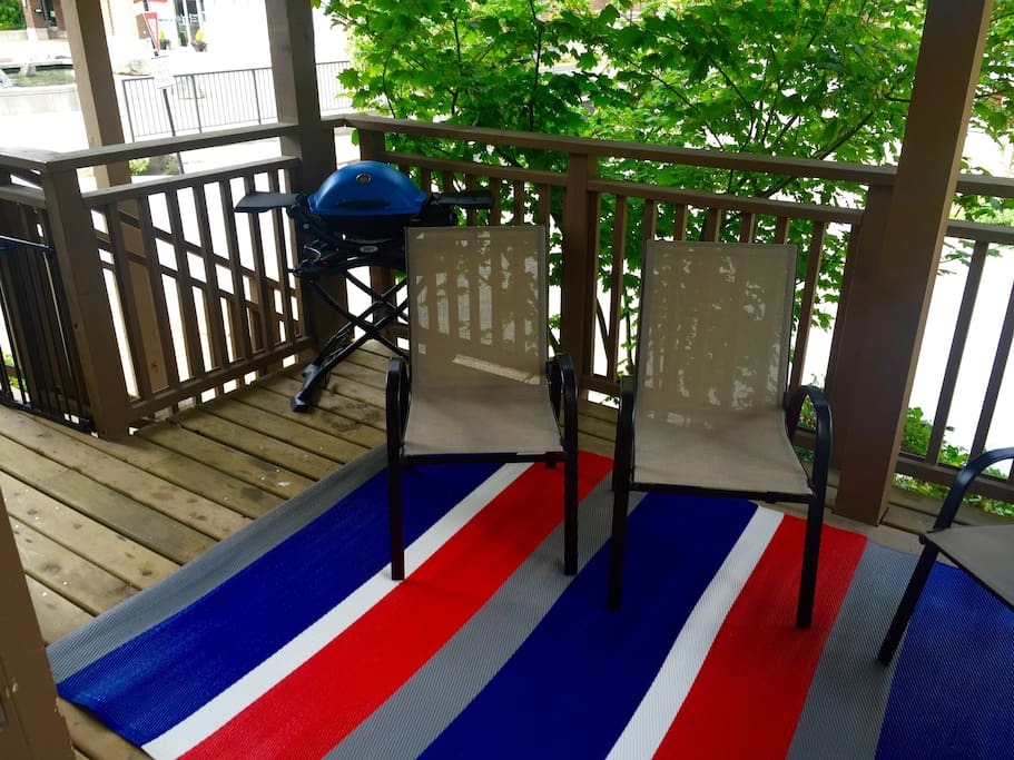 Covered deck for BBQ