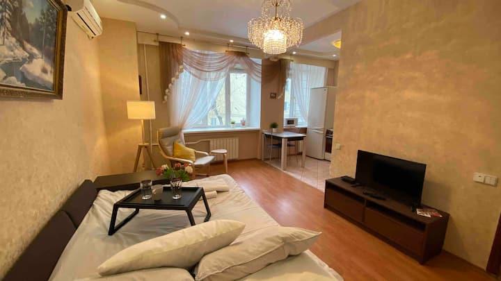 Светлая и уютная квартира на Сухаревской