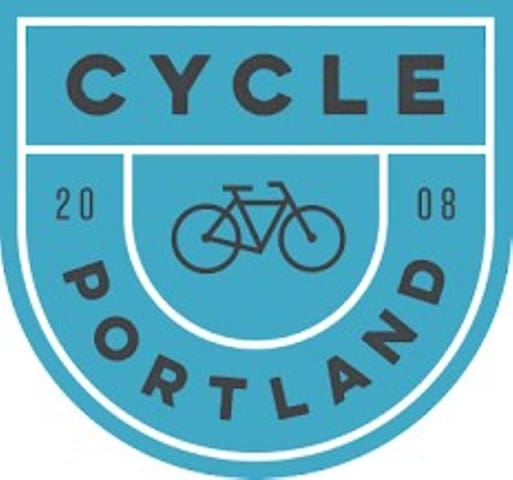 Bicycles are a regular part of life in Portland! Pick-up bikes abound across the city.