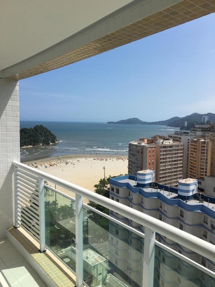 Apartamento novo com vista para o Mar em Santos