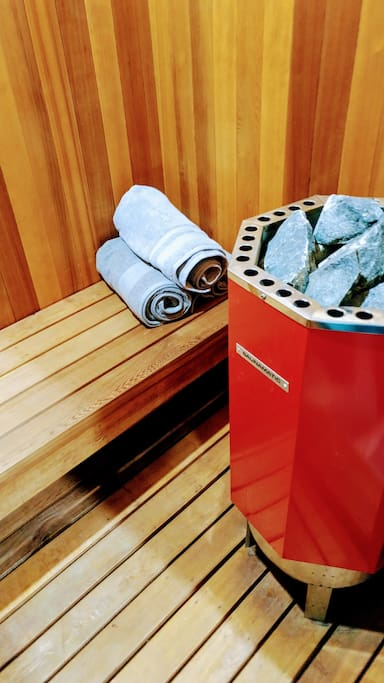 Relax in the sauna - in your unit's bathroom