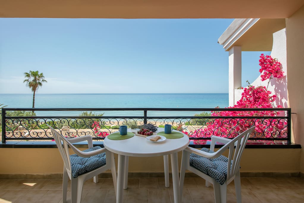 Balcony with Beach & Sea View