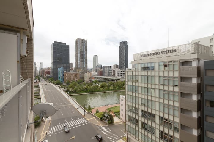 Top floor apartment ! River View! Free Wifi! - 大阪市 - Apartamento
