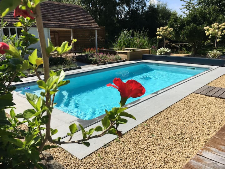 La chambre du Chemin Vert spa pool