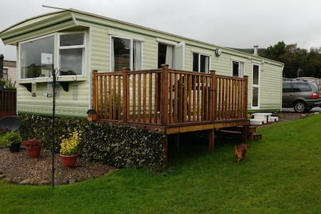 Quiet, comfortable caravan with gorgeous views - Powys