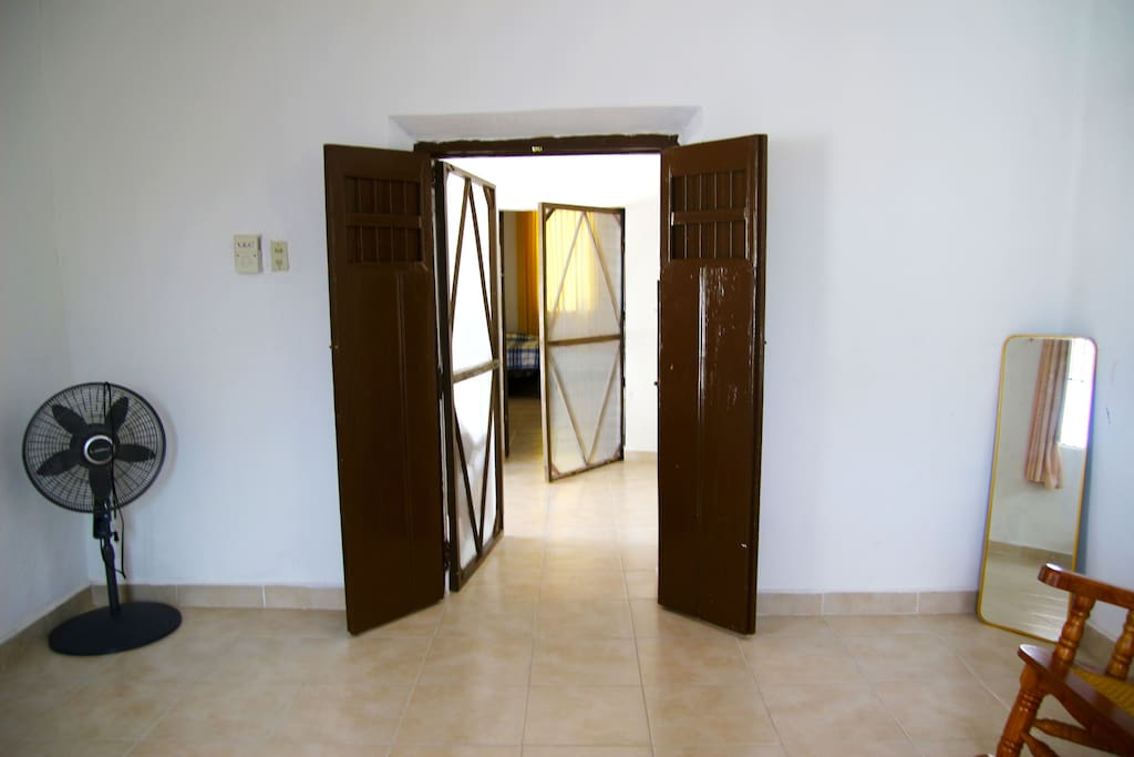 Bedroom 1 and 2 entrances