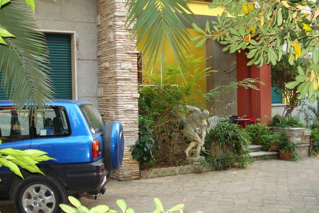 qui potrai parcheggiare la tua macchina