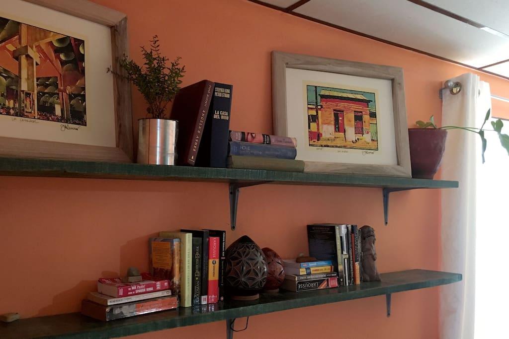 Book shelves for international book swap