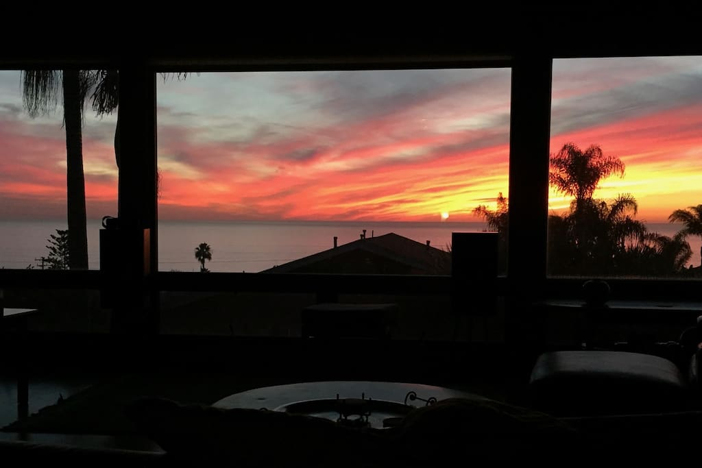 This is the view from the couch in the living room.