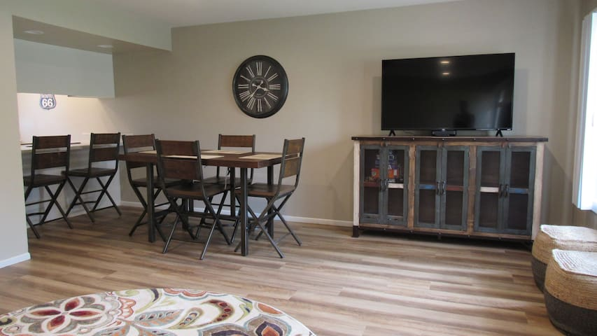 Dining area of open living room