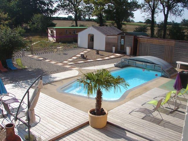 """De l'Ain à l'hôte Chambre """"Héron"""" - Saint-Trivier-sur-Moignans - Guesthouse"""