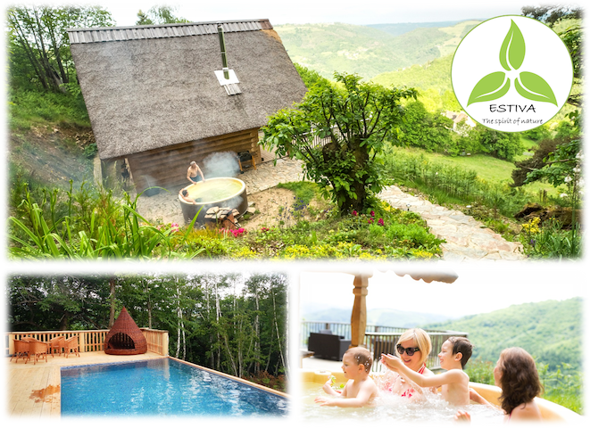 ESTIVA : Beautiful Chalet - Private Spa-Pool-View - Lapeyrugue - Haus