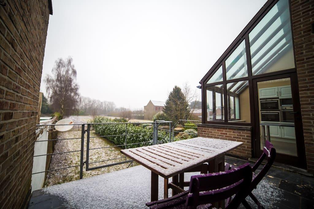 Terrasse donnant sur le jardin