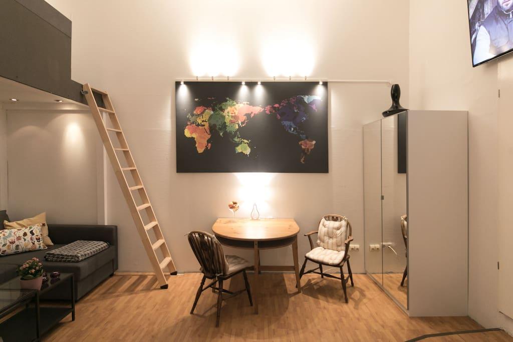 gem tliche wohnung mit eigenem parkplatz stanovi za najam meerbusch nordrhein westfalen. Black Bedroom Furniture Sets. Home Design Ideas