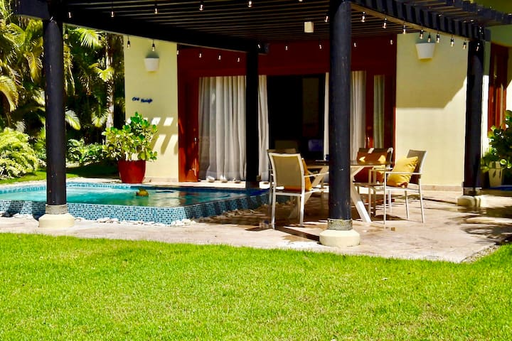 Your private back yard and pool