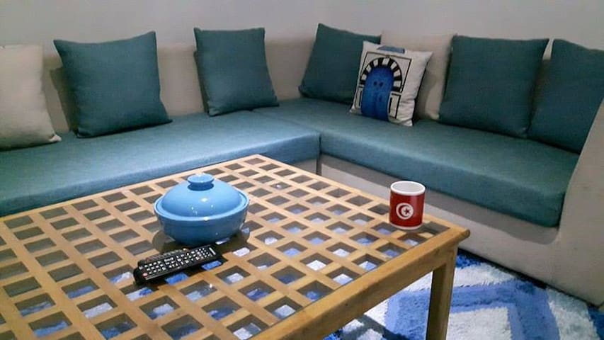 DAR BLEU: C'EST COMME CHEZ VOUS - 튀니스(Tunis) - 아파트