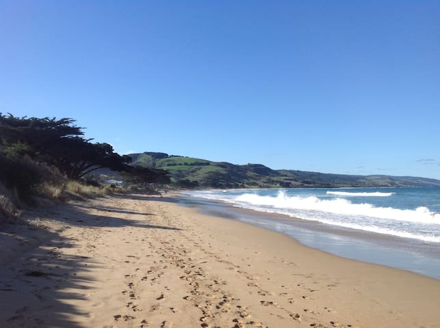 This beach is a 5 minute walk from our home. It's beautiful and most often like  this. You will often have it to yourself!