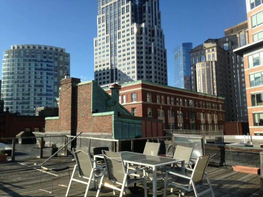 The roof deck