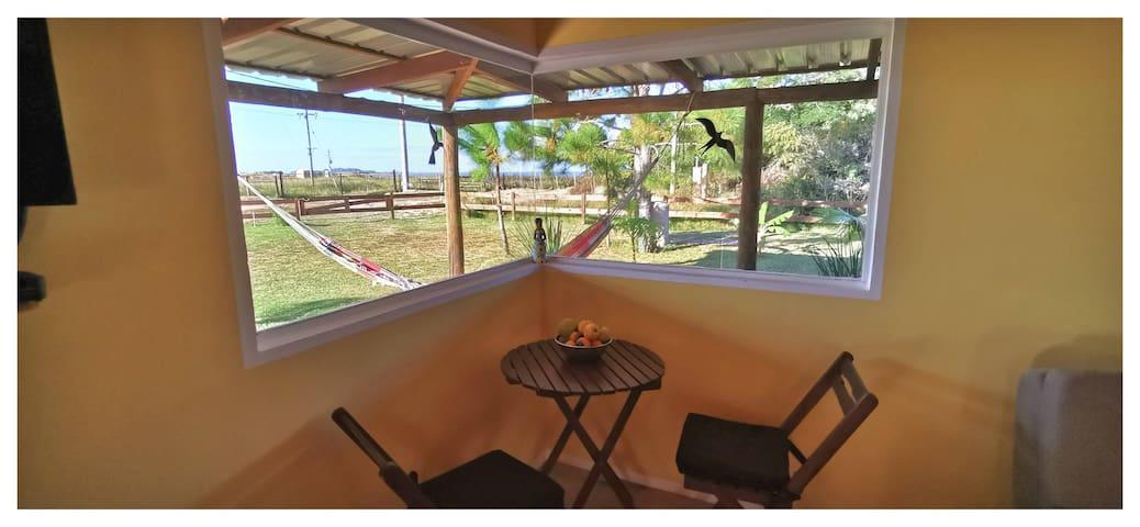 Vista del living a la laguna - View of the living room to the lagoon