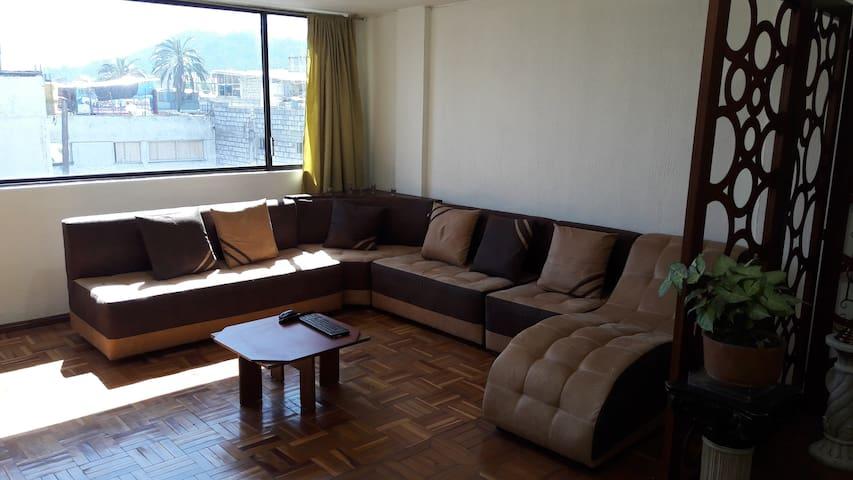 Amplia Habitación para descansar con tranquilidad