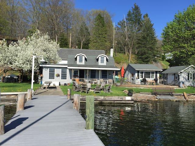 """The Willows"" Lakefront rental on  Seneca Lake"