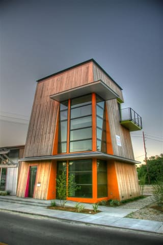 Modern on Main has a contemporary, eclectic character, with wide views of Old Town Bay St Louis.