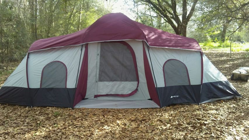 Spacious 3 Room Weather Proof Tent