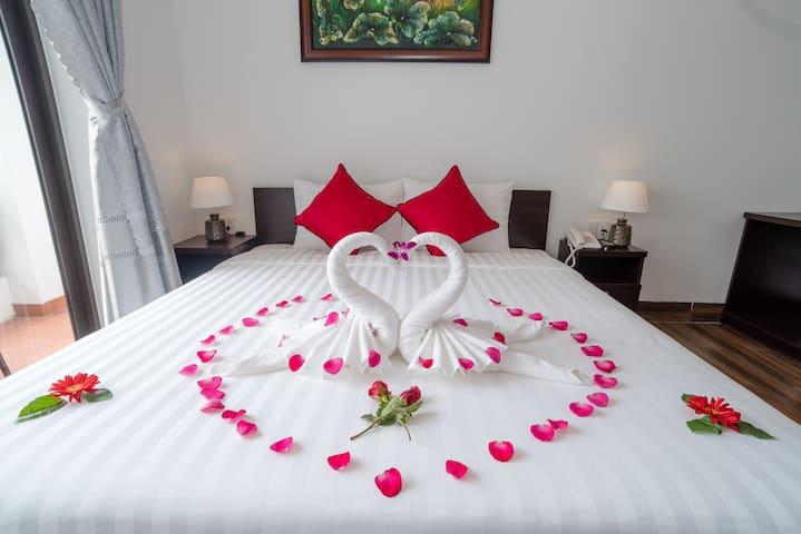 Bed with nice decoration