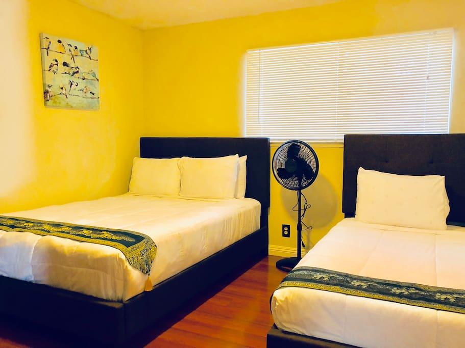 Bedroom fan.