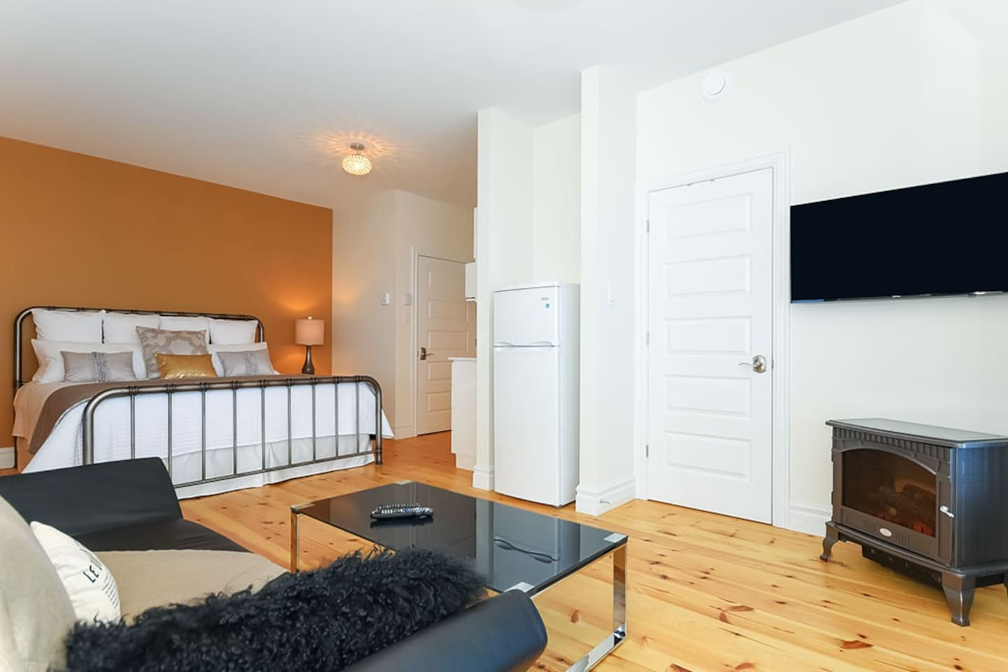 Each bedroom is very large, modern and clean. Includes Netflix enabled smart TV.
