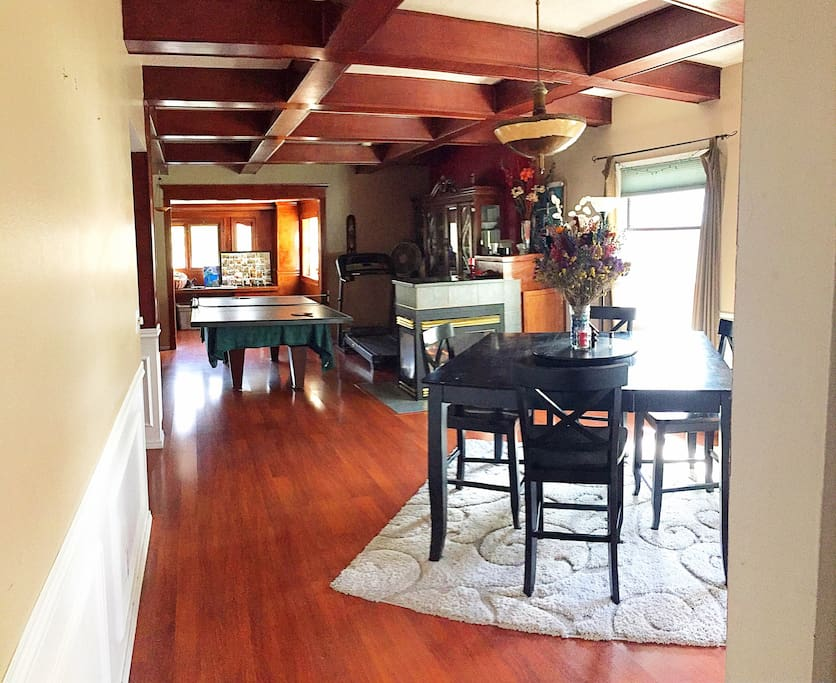 Main living space. One great room