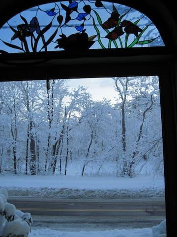 Winter, from the front door
