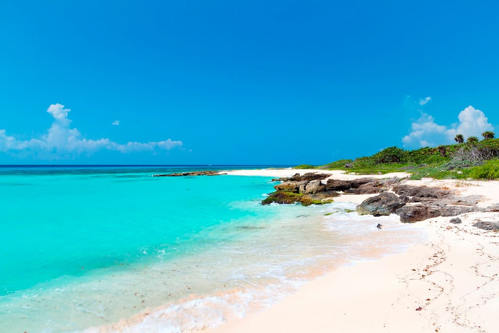 Beautiful beaches in Playa del Carmen.