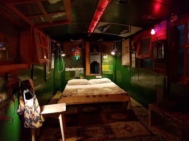 Old Bus converted into gypsy living space