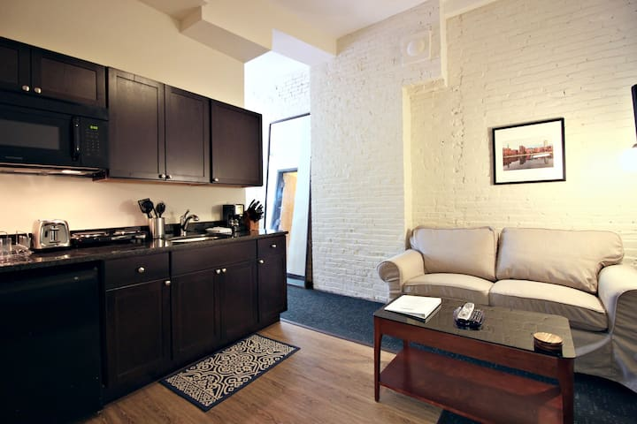 """""""Living Area - Boston Furnished Rental, Downtown"""""""