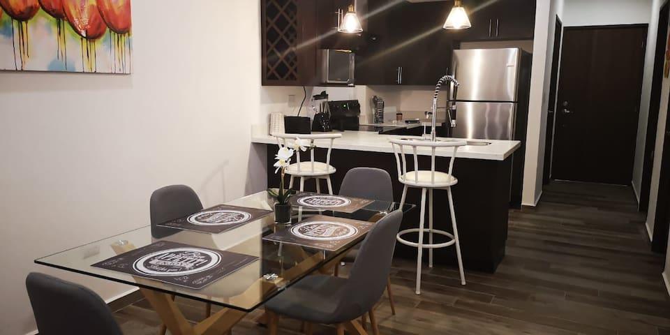 Apartamento moderno para  ejecutivos y familias.