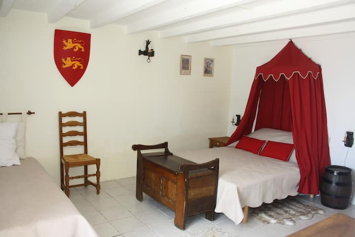 L'Auberge Médiévale - Chambre Léopard