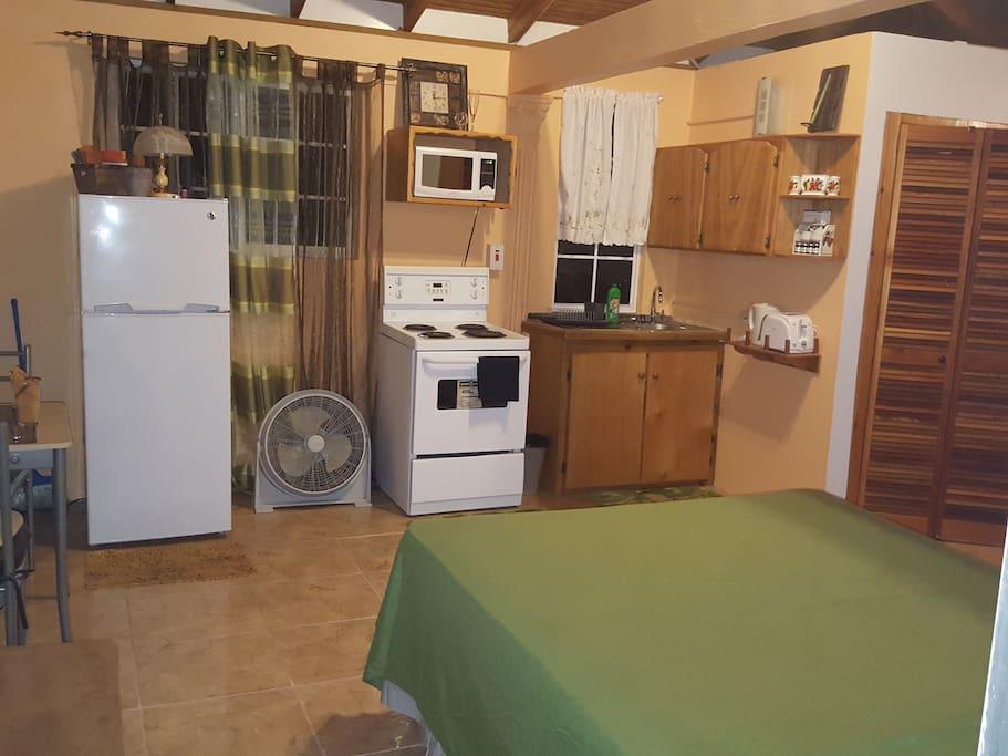 Kitchen view from front door