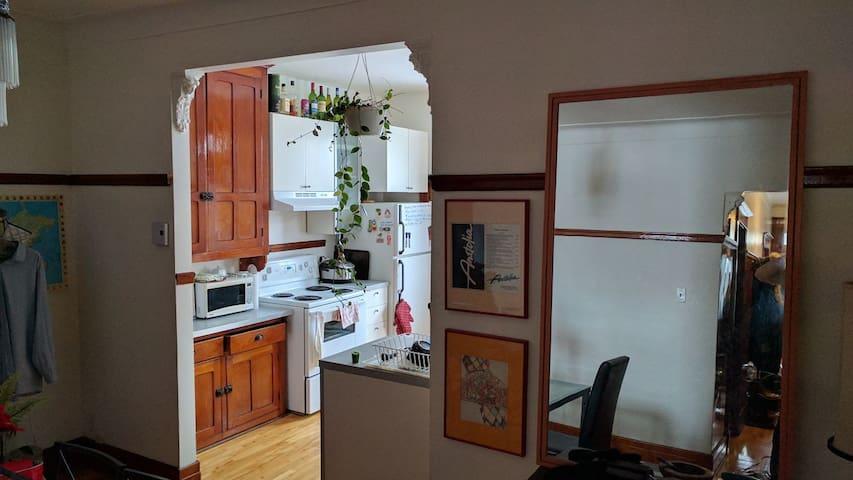 Appartement chaleureux et tranquille à Rosemont - Montréal - Apartemen
