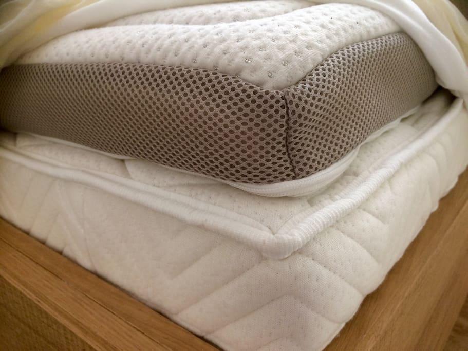 Nano silver gel mattress for comfort sleep